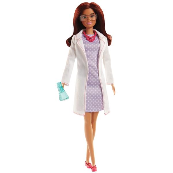 Barbie - Naturwissenschaftlerin Puppe brünett