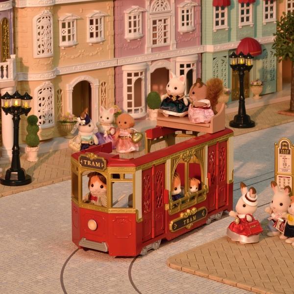 Sylvanian Families - Stadt Straßenbahn