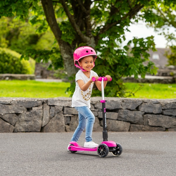 I-Sporter - XL LED Scooter, pink-schwarz
