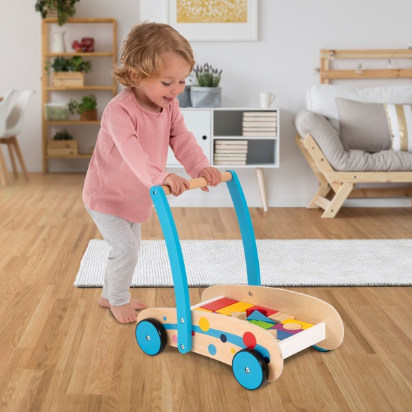 Squirrel Play - Baby-Walker mit 24 Blöcken, Holz