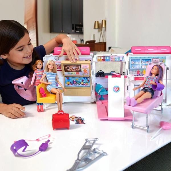 Barbie - 2-in-1 Krankenwagen Spielset
