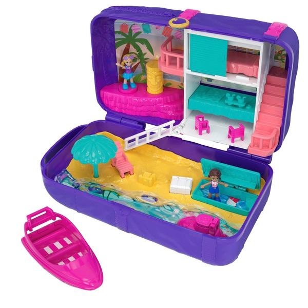 Polly Pocket - Spielset Versteckter Palast, Strandspaß-Rucksack (FRY40)