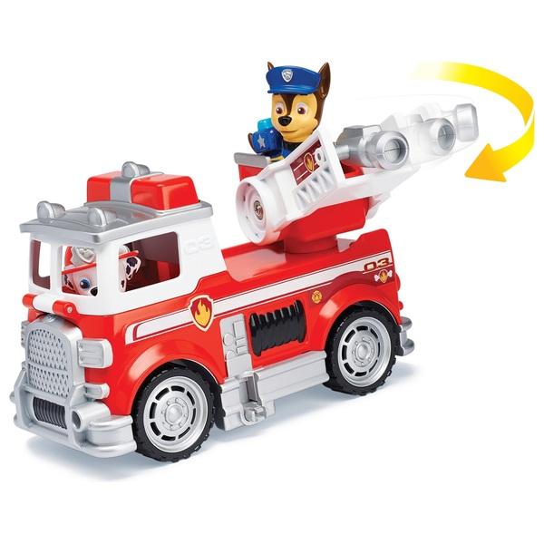 Paw Patrol - Ultimate Rescue: Feuerwehrauto mit Hundewelpe Marshall