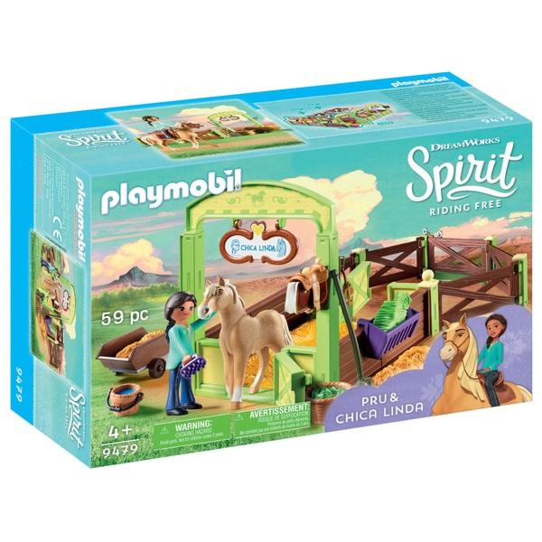 PLAYMOBIL - 9479 Pferdebox Pru & Chica Linda