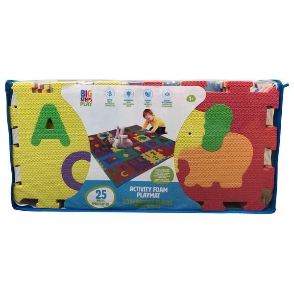 Big Steps - Schaumstoff-Puzzle Spielmatte, 25 Teile