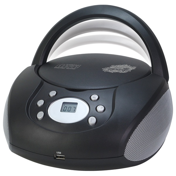 Just Play - CD/MP3 Boombox, schwarz