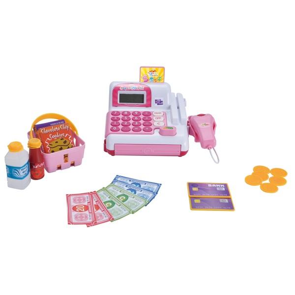 Elektronische Supermarkt Kasse, pink