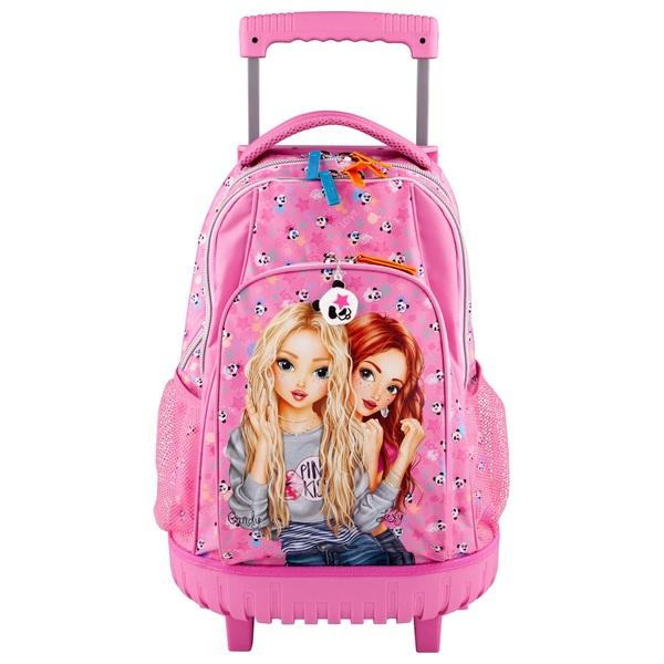 TOPModel - Schulrucksack Trolley Panda, pink