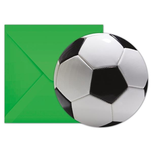 Procos 6 Einladungskarten Fussball Party Partyartikel Fussball Osterreich