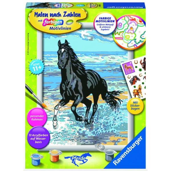 ravensburger malen nach zahlen serie d pferde sortiert