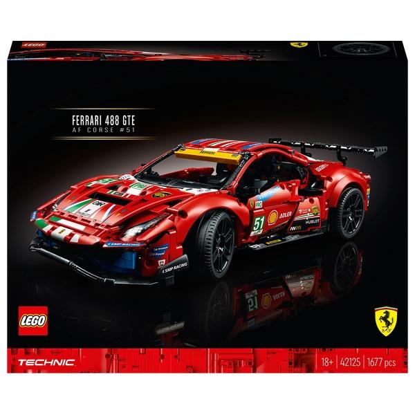 Lego Technic 42125 Ferrari 488 Gte Af Corse 51 Smyths Toys Superstores