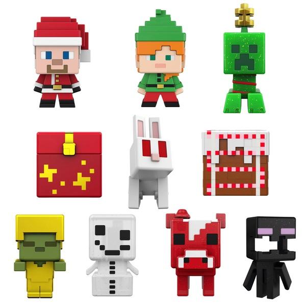 Minecraft Adventskalender mit Figuren und Stickern