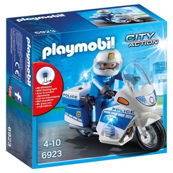PLAYMOBIL - 6923 Motorradstreife mit LED