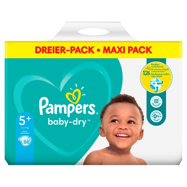e15125efbd Pampers - Windeln Mega Pack Baby Dry Junior, Gr. 5+ (84 Stück ...