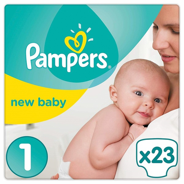 Pampers - Tragepack New Baby, New Born Gr. 1 (23 Stück)