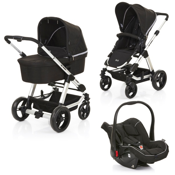 ABC Design - Travelsystem Condor 4 All in One, Black Woven Grey (Design 2018)