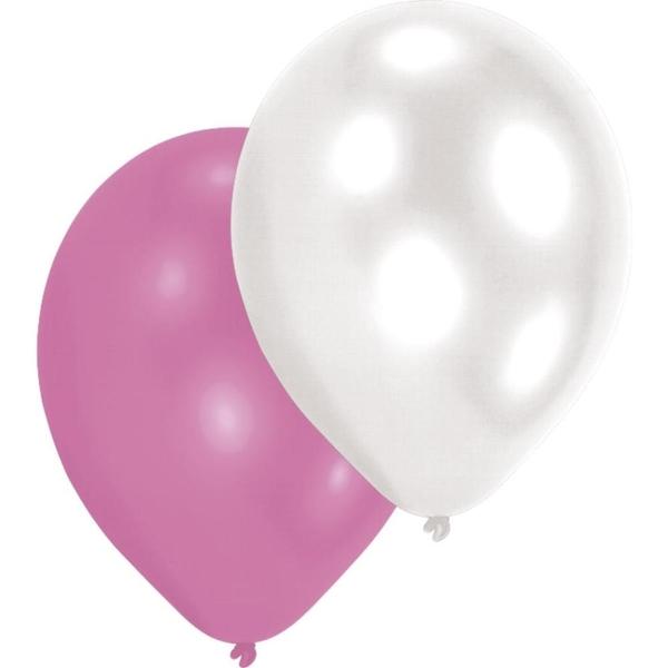 Latexballons Girls Perlmutt, sortiert, 10 Stk.