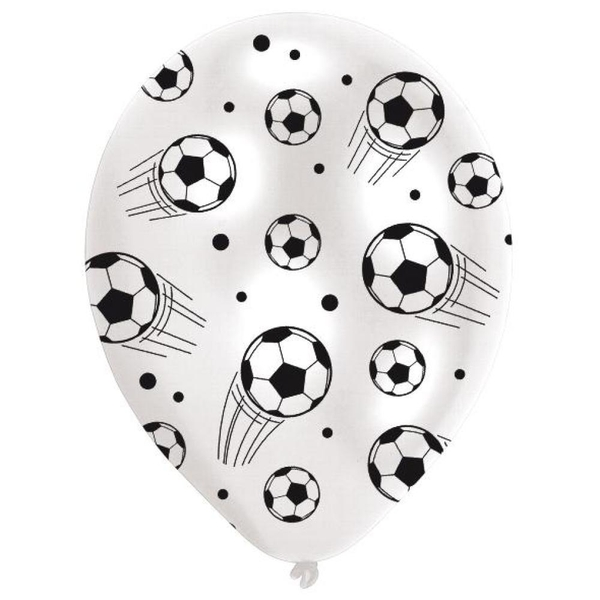 Riethmüller - Latexballons, Football Global, 6 Stk.