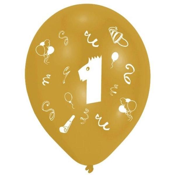 Riethmüller - Latexballons, Zahl 1, 8 Stk.