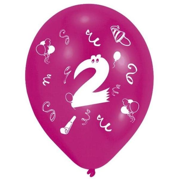 Riethmüller - Latexballons, Zahl 2, 8 Stk.