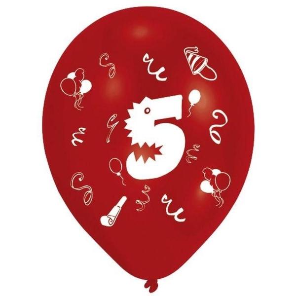 Riethmüller - Latexballons, Zahl 5, 8 Stk.