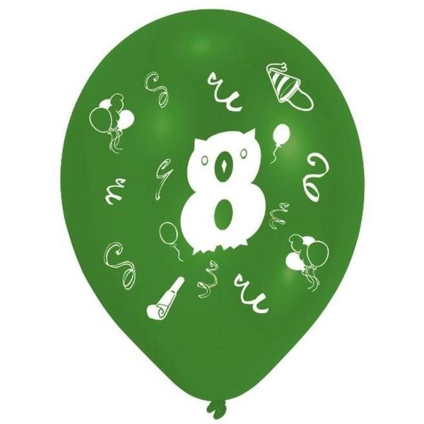 Riethmüller - Latexballons, Zahl 8, 8 Stk.