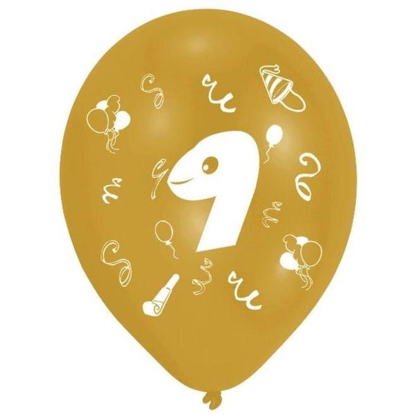 Riethmüller - Latexballons, Zahl 9, 8 Stk.
