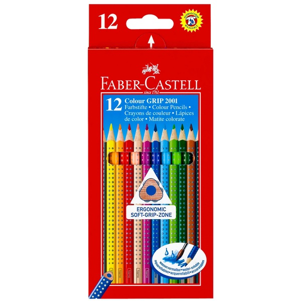 Faber-Castell - Colour GRIP 2001, 12er Pack