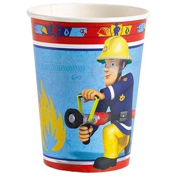 Feuerwehrmann Sam - 8 Pappbecher