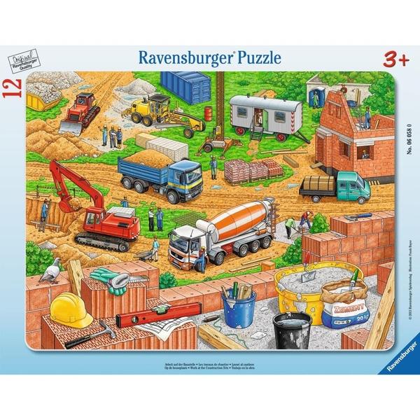 Ravensburger - Rahmenpuzzle: Arbeit auf der Baustelle, 12 Teile