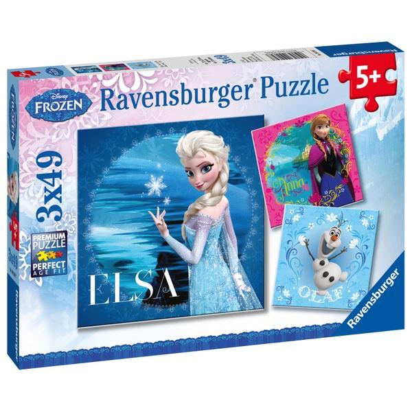 Ravensburger Puzzle Disney Eiskönigin Elsa Anna Und Olaf 3x49 Teile Puzzles Bis 100 Teile Deutschland