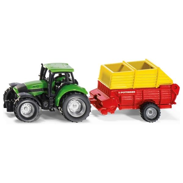 SIKU Farmer - 1676: Traktor mit Pöttinger Ladewagen