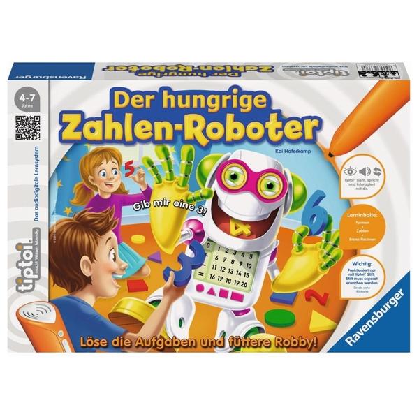 Ravensburger - tiptoi Lernspiel: Der hungrige Zahlenroboter