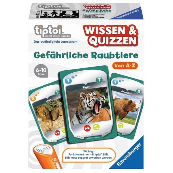 Ravensburger - tiptoi Spiel: Wissen & Quizzen - Raubtiere