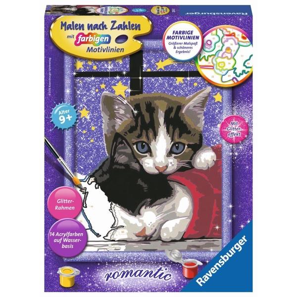 Ravensburger - Malen nach Zahlen Romantic: Kuschelnde Kätzchen