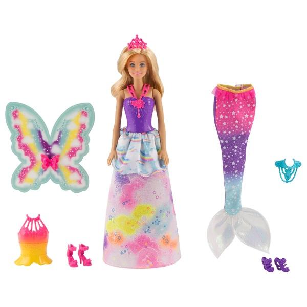 Barbie - Dreamtopia: Regenbogen-Königreich 3-in-1 Fantasie Puppe