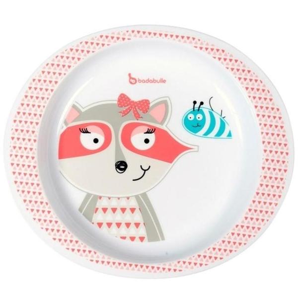 Badabulle - Teller für Mikrowelle, Fuchs rosa