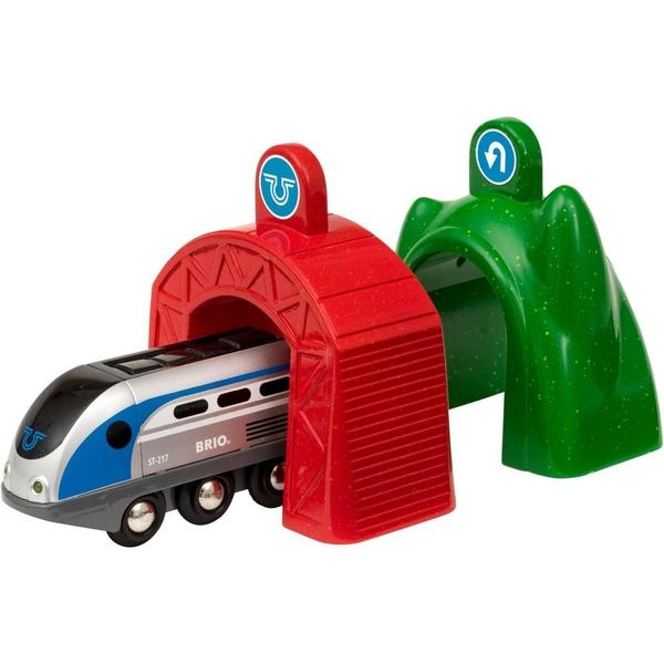 BRIO - Smart Tech Zug mit Action-Tunnel