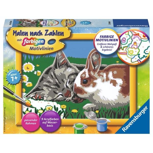 Ravensburger - Malen nach Zahlen: Kätzchen und Häschen