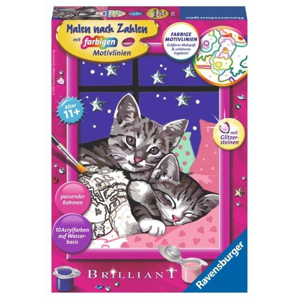 Ravensburger - Malen nach Zahlen: Schlafende Katzen