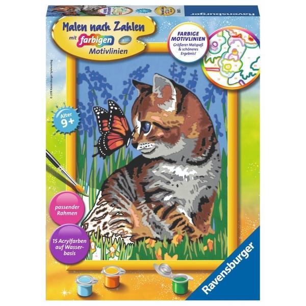 Ravensburger - Malen nach Zahlen: Katze mit Schmetterling