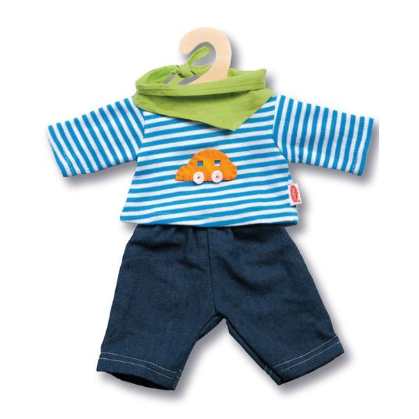 Heless- Puppen-Jeans mit Streifenshirt, Größe 35-45 cm