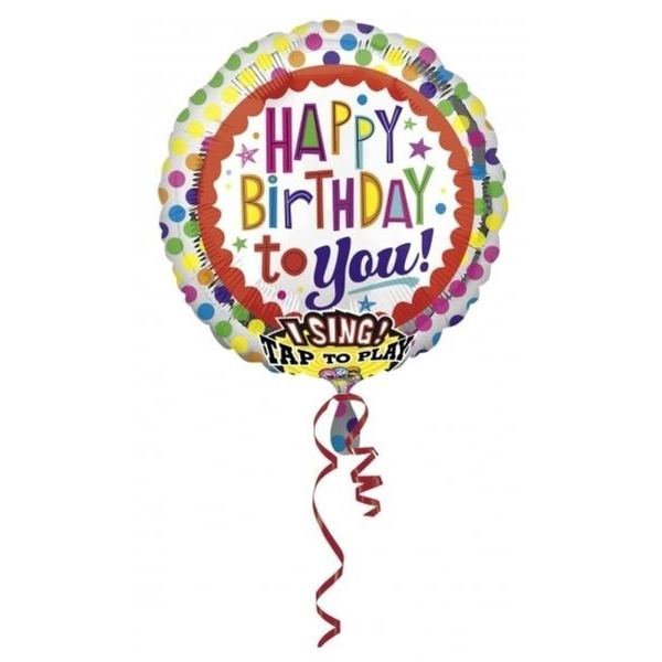 Riethmueller - Folienballon Sing-A-Tune, Happy Birthday to You