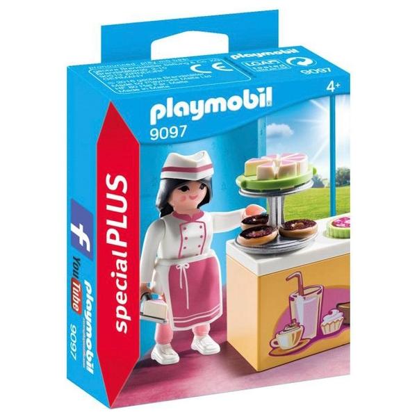 PLAYMOBIL - 9097 Konditorin mit Kuchentheke