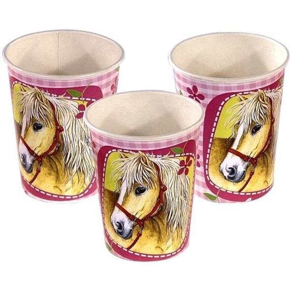 Riethmüller - Pferde Becher, 8 Stück