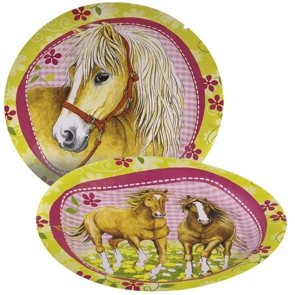 Riethmüller - 8 Teller, Pferde