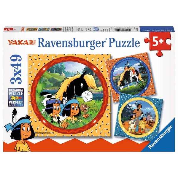 der tapfere Indianer 3 x 49 Teile Puzzle Spiel Deutsch 2017 Puzzles Yakari
