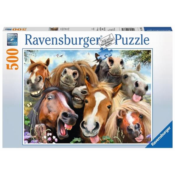 Ravensburger - Puzzle: Pferde Selfie, 500 Teile