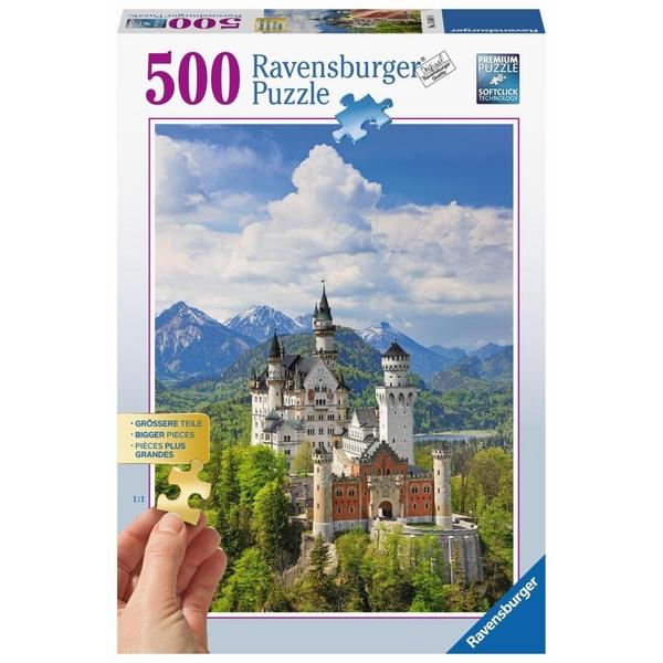 Ravensburger - Puzzle: Märchenhaftes Schloss Neuschwanstein, 500 Teile