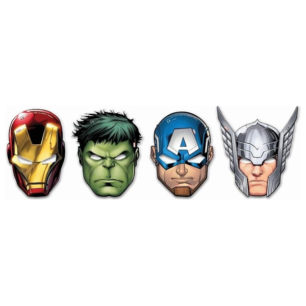 The Avengers - Mighty: 6 Papier-Masken